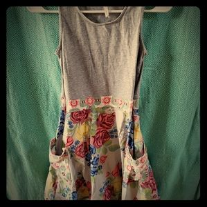435 by Matilda Jane floral and grey dress